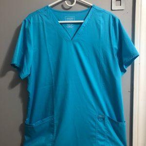Aqua blue scrub set